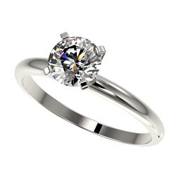 1.06 ctw Certified Quality Diamond Engagment Ring 10k White Gold