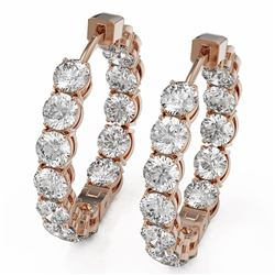 7.28 ctw Diamond Designer Earrings 18K Rose Gold