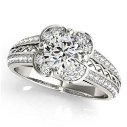 2.05 ctw Certified VS/SI Diamond Solitaire Halo Ring 14k White Gold