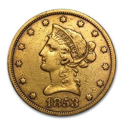 1853 $10 Liberty Gold Eagle XF