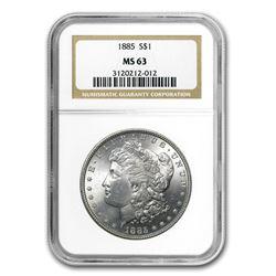 1885 Morgan Dollar MS-63 NGC