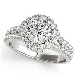 1.76 ctw Certified VS/SI Diamond Halo Ring 14k White Gold