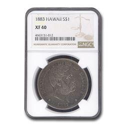 1883 Hawaii Silver Dollar King Kalakaua I XF-40 NGC