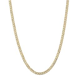 14k Yellow Gold 4.5 mm Open Concave Curb Chain - 26 in.