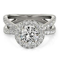 2.01 ctw Certified VS/SI Diamond Halo Ring 14k White Gold