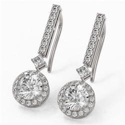 2.4 ctw Diamond Designer Earrings 18K White Gold