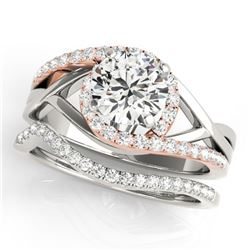 1.75 ctw Certified VS/SI Diamond Bypass Wedding 14k 2Tone Gold