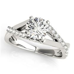 0.77 ctw Certified VS/SI Diamond Ring 18k White Gold