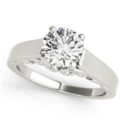 1 ctw Certified VS/SI Diamond Solitaire Ring 14k White Gold