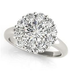 1.38 ctw Certified VS/SI Diamond Halo Ring 18k White Gold