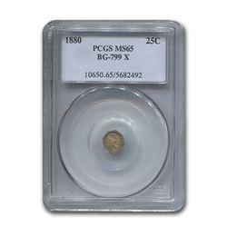 1880 Indian Octagonal 25¢ Gold MS-65 PCGS (BG-799 X)