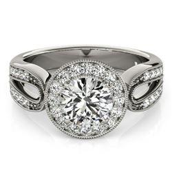 1.4 ctw Certified VS/SI Diamond Halo Ring 18k White Gold