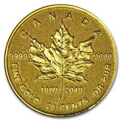 2019 Canada 1/2 Gram Pf Gold $0.25 40th Anniv of the GML