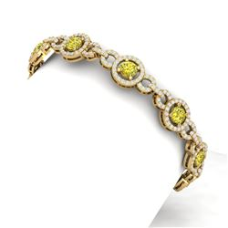 9 ctw SI/I Fancy Yellow Diamond Bracelet 18K Yellow Gold