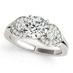 1.2 ctw Certified VS/SI Diamond 3 Stone Ring 14k White Gold
