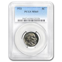 1921 Buffalo Nickel MS-65 PCGS