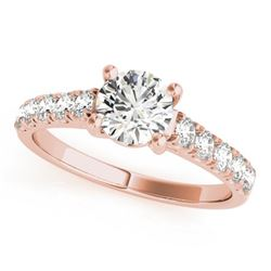 2.1 ctw Certified VS/SI Diamond Ring 14k Rose Gold
