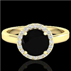 2 ctw Halo VS/SI Diamond Certified Micro Pave Ring 18k Yellow Gold