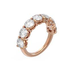 3.64 ctw Diamond Ring 18K Rose Gold