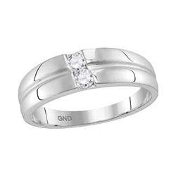 10kt White Gold Womens Round Diamond Band Ring 1/4 Cttw