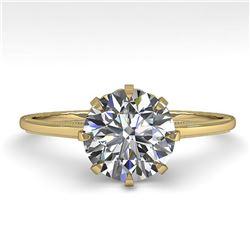 1.50 ctw Certified VS/SI Diamond Ring Vintage 14k Yellow Gold