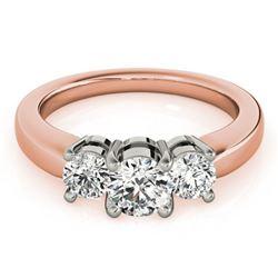 1.45 ctw VS/SI Diamond 3 Stone Ring 18k Rose Gold