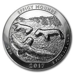 2017 5 oz Silver ATB Effigy Mounds National Monument, Iowa