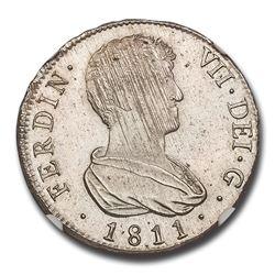 1811-V SG Spain Silver 4 Reales Ferdinand VII MS-63 NGC