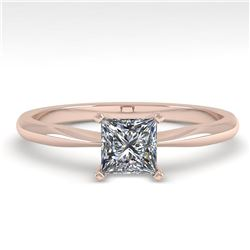 0.52 ctw Princess Cut VS/SI Diamond Engagment Ring 18k Rose Gold