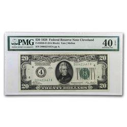 1928 (4-Cleveland) $20 FRN XF-40 EPQ PMG