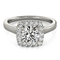 1.37 ctw Certified VS/SI Diamond Halo Ring 14k White Gold