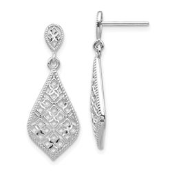 14k White Gold Dangle Earrings