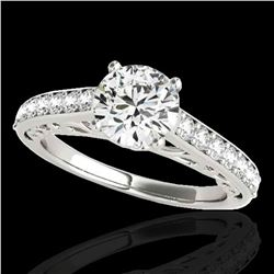 1.65 ctw Certified Diamond Solitaire Ring 10k White Gold