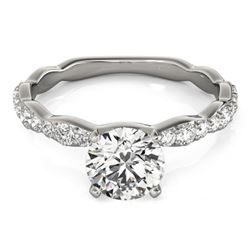 1.4 ctw Certified VS/SI Diamond Solitaire Ring 14k White Gold