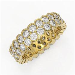 3.5 ctw Diamond Designer Eternity Ring 18K Yellow Gold