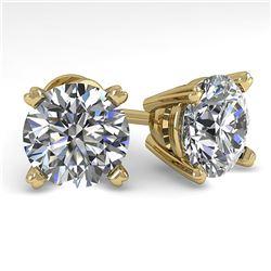 4 ctw Certified VS/SI Diamond Stud Earrings 18K Yellow Gold