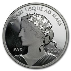 2020 Canada 1 oz Silver $1 Peace Dollar Proof UHR (Abrasions)