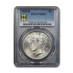 1926-D Peace Dollar MS-65 PCGS