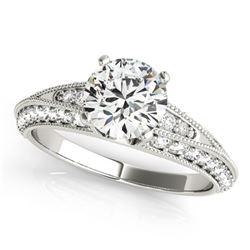 1.58 ctw Certified VS/SI Diamond Antique Ring 14k White Gold
