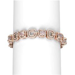 22.5 ctw Morganite & Diamond Bracelet 18K Rose Gold