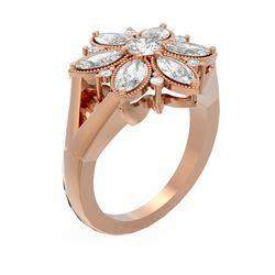 2.07 ctw Diamond Ring 18K Rose Gold