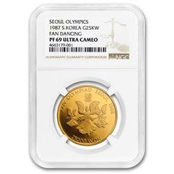 1987 South Korea Gold 25,000 Won PF-69 NGC