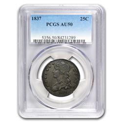 1837 Capped Bust Quarter AU-50 PCGS