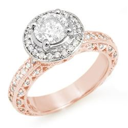 2.0 ctw Certified VS/SI Diamond Ring 14k Rose Gold