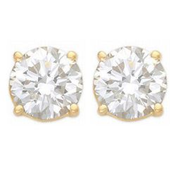 1.0 ctw Certified VS/SI Diamond Stud Earrings 14k Yellow Gold