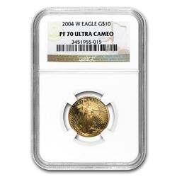2004-W 1/4 oz Proof Gold American Eagle PF-70 NGC