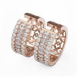 7.28 ctw Marquise Cut Diamond Designer Earrings 18K Rose Gold