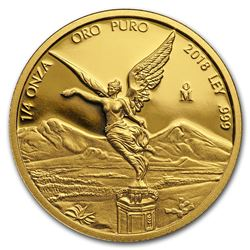 2018 Mexico 1/4 oz Proof Gold Libertad