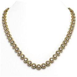 23.95 ctw Diamond Micro Pave Necklace 18K Yellow Gold