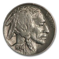 1934 Buffalo Nickel AU
